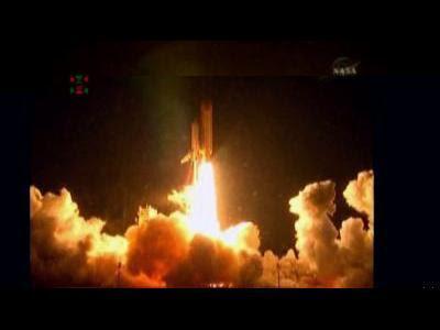 Shuttle Endeavour's pre-dawn launch