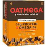 Oatmega Grass-Fed Whey Protein Bar Chocolate Peanut