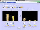 Screenshot of the simulation Reactants, Products and Leftovers