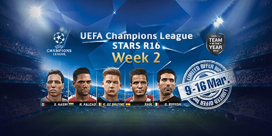 PES 2017 - myClub: UEFA Champions League STARS R16 Week 2 + World STARS