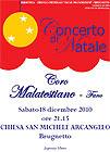 Locandina concerto di Natale al Brugnetto