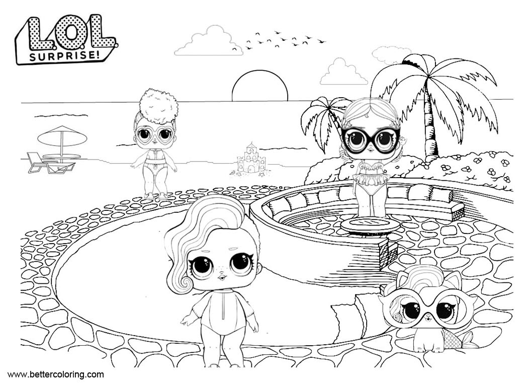 Unusual image for free printable lol doll coloring pages
