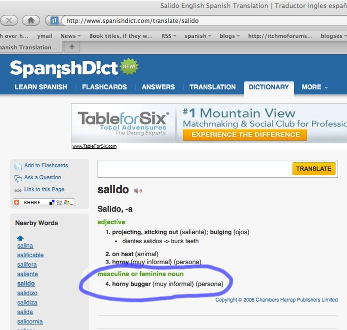 spanish - salido