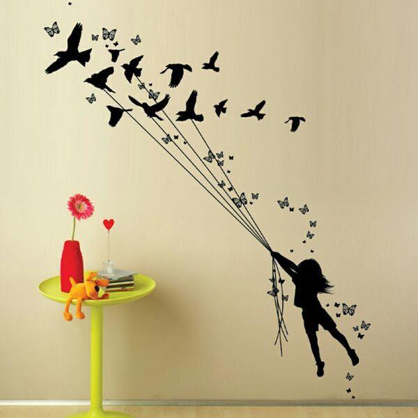 Butterfly Butterfly Wall Art Black