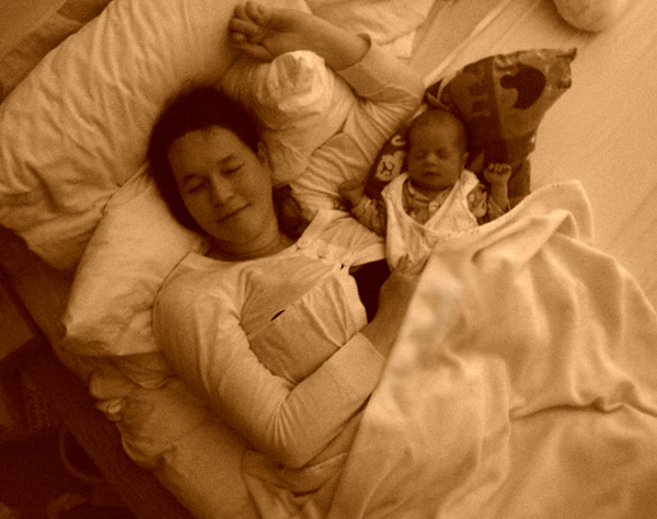 dylan & mummy in sepia
