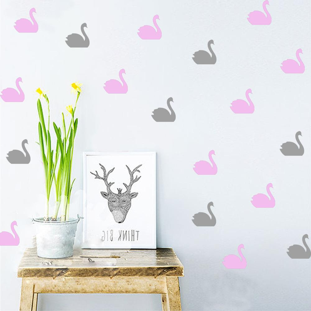 Animal Swan Shape Waterproof Vinyl Wall Stickers Decoration Wall