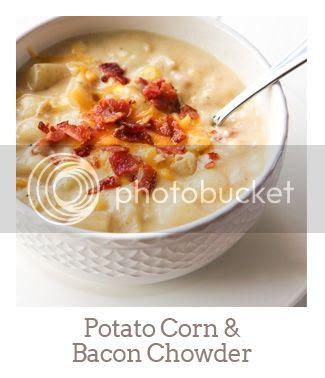 """Potato Corn & Bacon Chowder"""