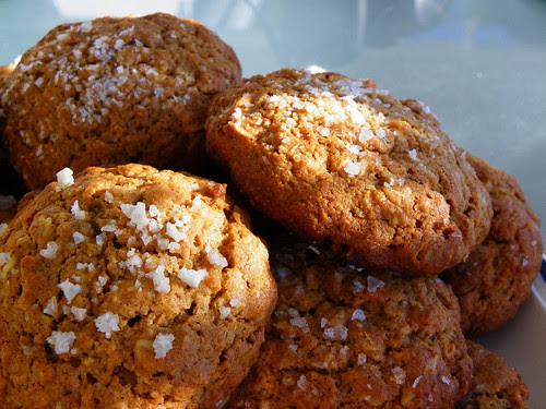 Maldon salt oatmeal cookies
