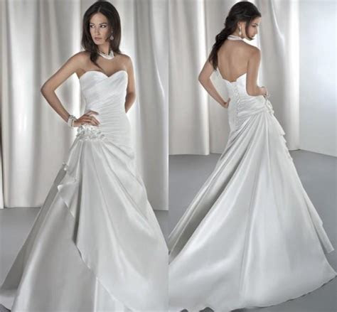2015 Chapel Train With Lace Up Wedding Dresses Formal Ball