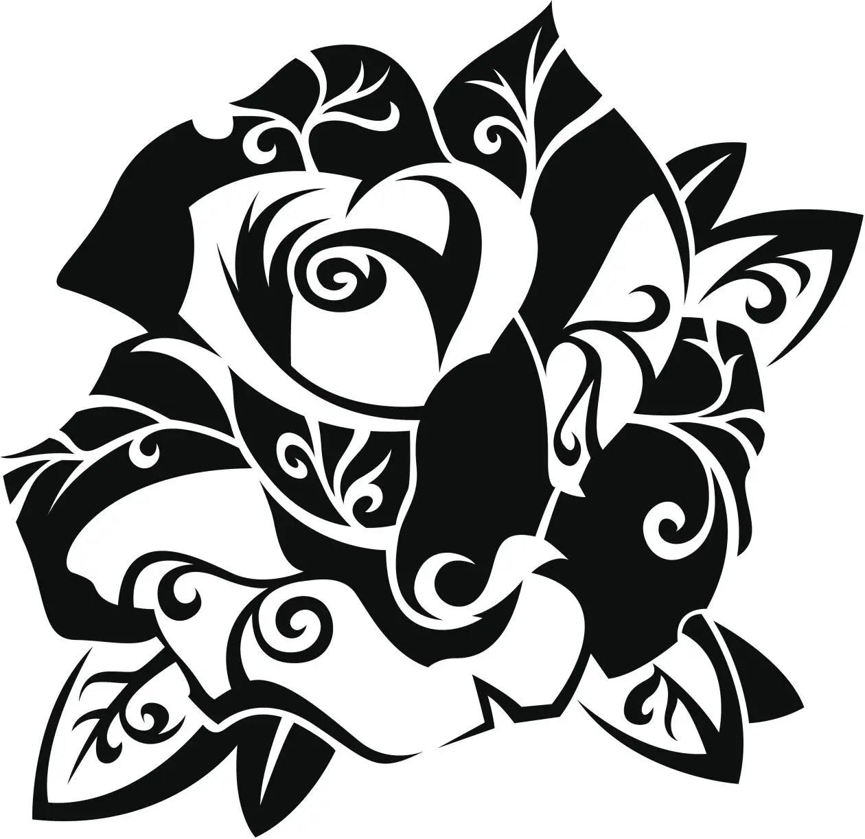 Flores Tribales Para Colorear