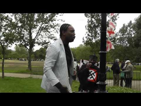ISHMAHIL BLAGROVE AT SPEAKERS' CORNER LONDON 20.6.2012.