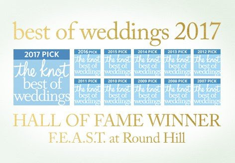 FEAST at Round Hill Wins 2017 The Knot Best Of Weddings