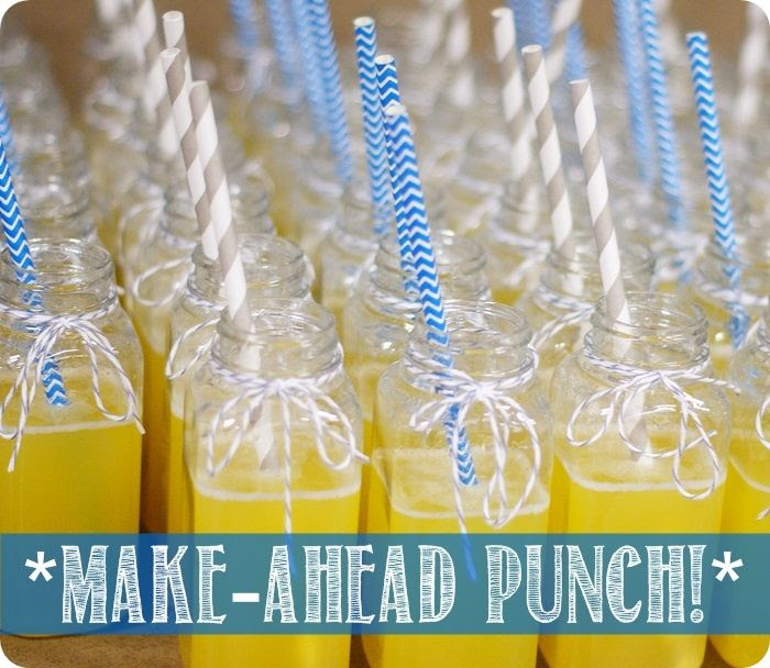 make-ahead punch recipe ::: bake at 350 blog