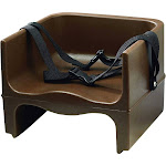 Winco (CHB-2P) Double-Sided Brown Plastic Booster Seat