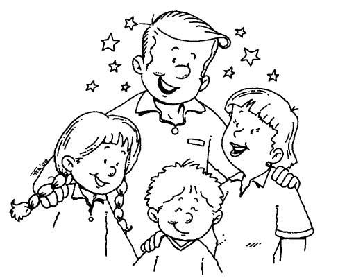 Disegni Da Stampare Famiglia 5 Persone Da Colorar Coloradisegni