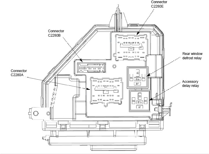2002 Ford Explorer Sport Trac Fuse Box Diagram