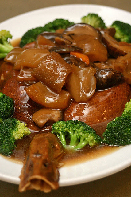 Braised Duck with Sea Cucumber