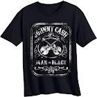 petiteToddler Boys' Johnny Cash Short Sleeve T-Shirt - Black 3T, Boy's
