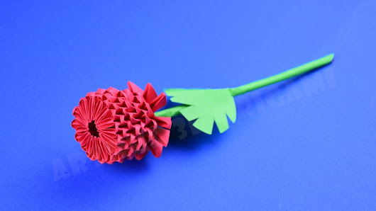 Origami Flower Rose From Pieces Of Paper DIY How To Make An 3D