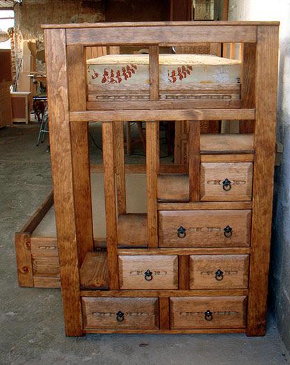 Bunk Beds, Custom Southwest Style Twin-Full Sizes