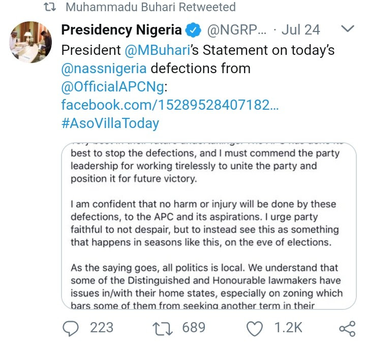 Aisha Yesufu, Reno Omokri, Others React To Buhari's 'Fastest Response Ever'