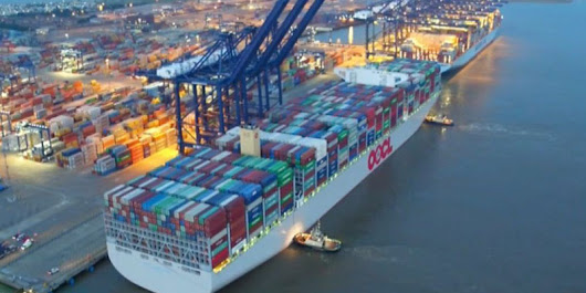 The world's largest container ship makes its maiden call at Felixstowe - Norman Global Logistics