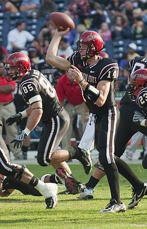 San Diego State Aztecs quarterback Ryan Lindle...