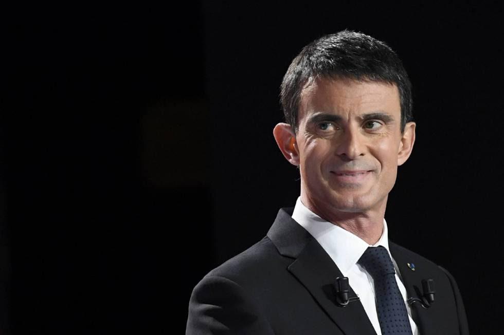 Manuel Valls, candidato presidencial, en un debate del domingo