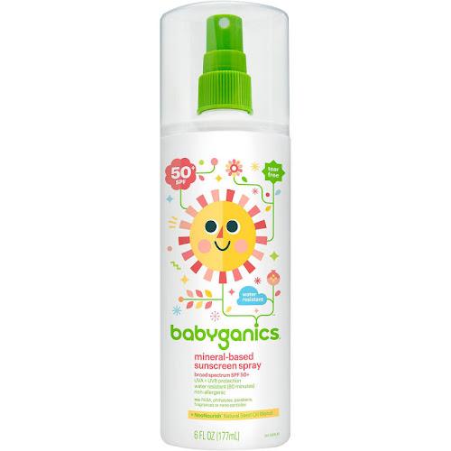 Babyganics Mineral Based Sunscreen Spray, SPF 50+ - 6 oz bottle