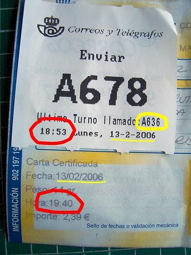 Correos en Málaga