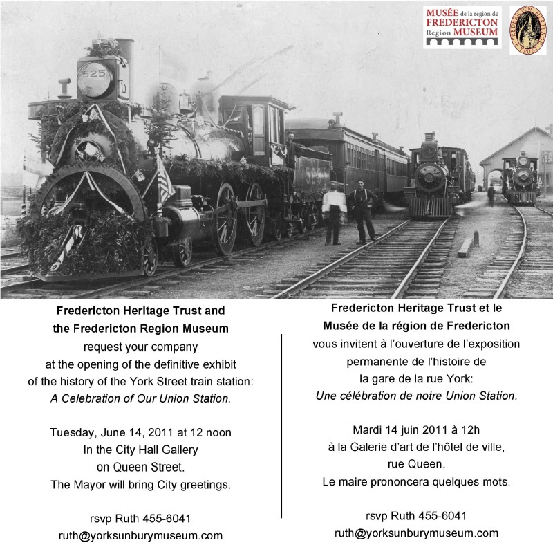 Fredericton Railway Station Exhibit Ad
