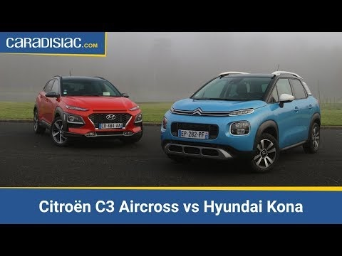 comparatif citro n c3 aircross vs hyundai kona. Black Bedroom Furniture Sets. Home Design Ideas