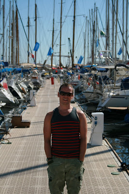 Jason in the Old Port in Cannes harbour
