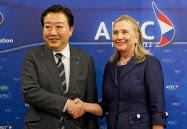 米国務長官はAPEC首脳会議でも野田首相に懸念を伝えた=AP