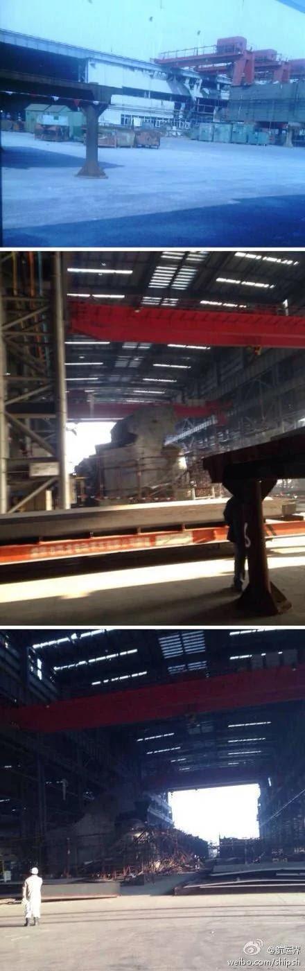 图说:今早,位于崇明岛的上海华润大东船务工程有限公司修造船基地发生爆炸。来源:@航运界