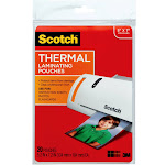 "Scotch Lamination pouches, 5"" x 7"", Clear - 20-pack"