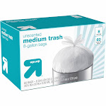 Up&Up Medium Trash Bags, 8 Gallon - 60 count