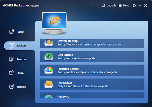 Best Free Windows Backup Program Alternative – AOMEI Backupper Standard