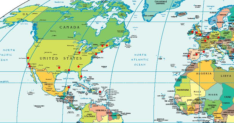 Europe America Map Googlesand