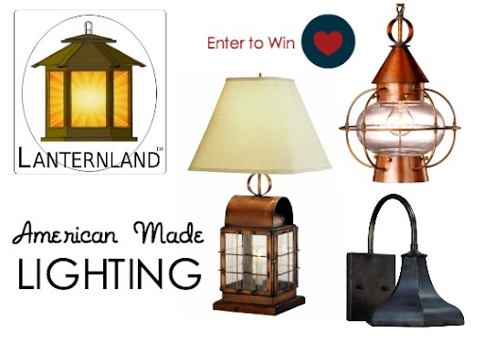 Giveaway: American Made Lighting by Lanternland - USA Love List
