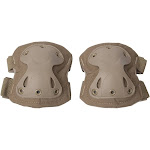 Aleko PBKEP54L Paintball Airsoft Outdoor Sports Large Safety Pads for Knees or Elbows Body Guard Protective Gear, Sand