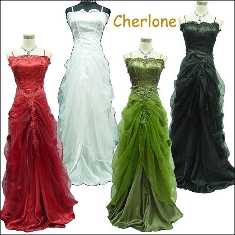 cherlone satin ball gown lace long weddingevening prom