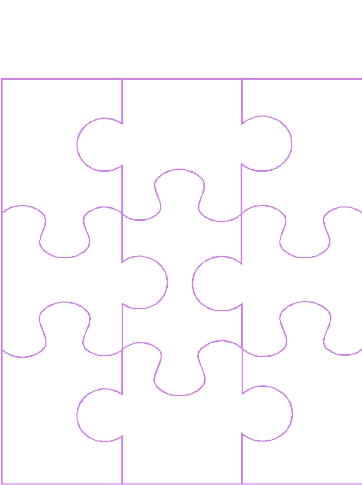Blank 9 Piece Puzzle Template - ClipArt Best