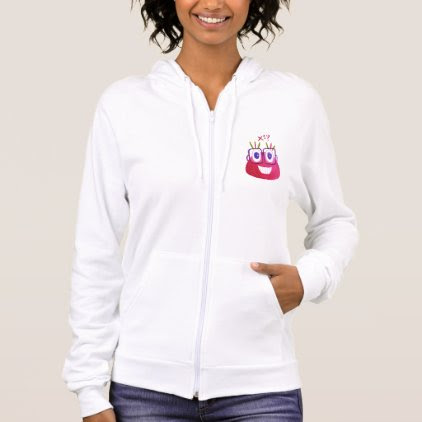 Cute Watercolor Geek Candy Character Mathematician Hoodie