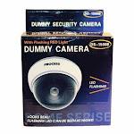 White Dome Dummy Security Camera with Flashing LED