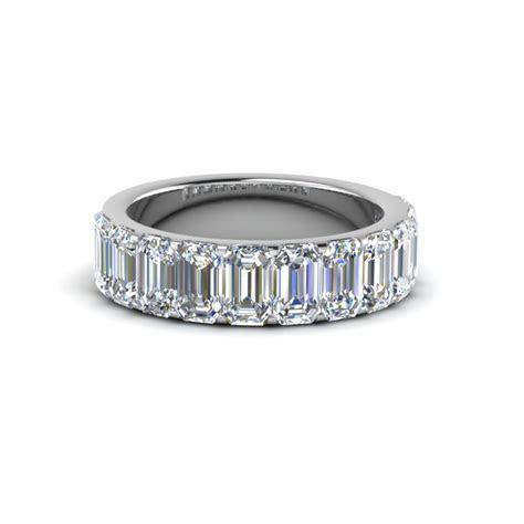 2.6 Carat Emerald Cut Diamond Eternity Band In Rose Gold