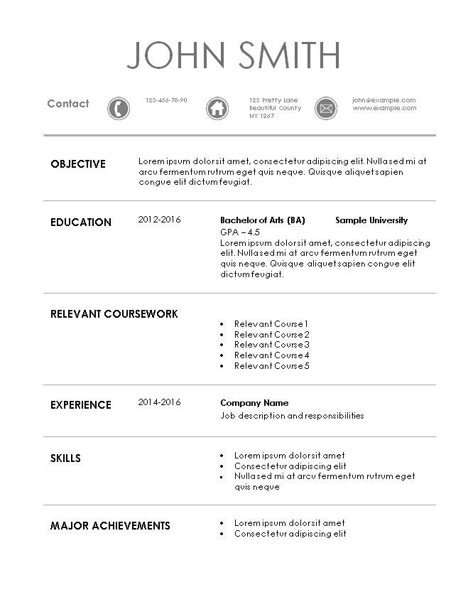 sample internship cv 2