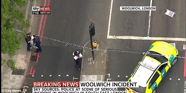 Police cordon: The area in Woolwich has been sealed off as an investigation gets underway