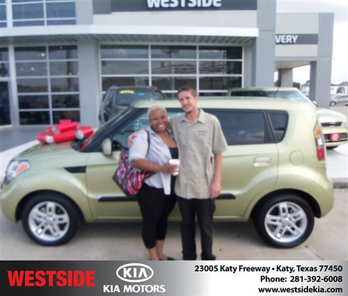 Thank you to Anthony Hess on the 2010 Kia Soul from Rubel Chowdhury and everyone at Westside Kia!