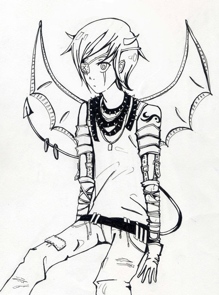 Anime Demon Boy Drawing Easy Find more on the creativity+fantasy board. anime demon boy drawing easy